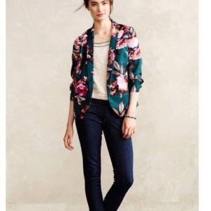 Anthropologie  Cartonnier  Floral Blazer - Size 4